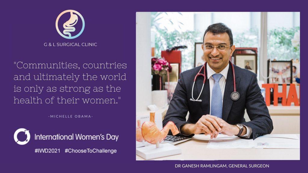 International Women's Day, Dr Ganesh Ramalingam, Lisa Gwee Ganesh